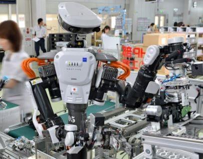 robot Nextaje fabricado en Japón es un cobot o robot colaborativo