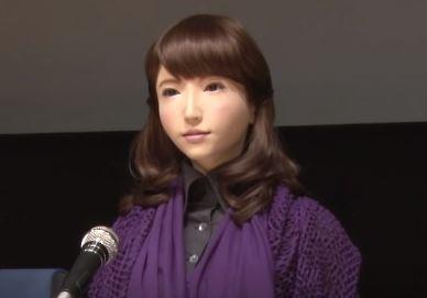 robot humanoide Erica que habla creado en Japón con Inteligencia Artificial
